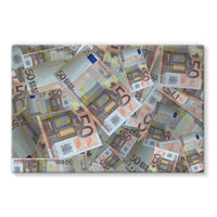 50 Euro Banknotes Stretched Canvas 36X24 Wall Decor