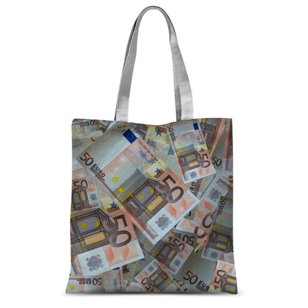50 Euro Banknotes Sublimation Tote Bag 15X16.5 Accessories