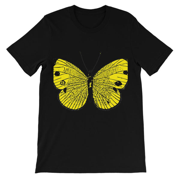 Yellow Comic Butterfly Kids' T-Shirt