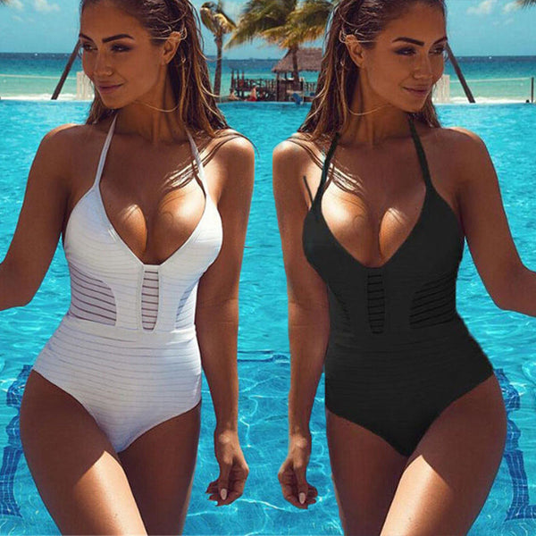 3a195e8b58 One Piece Swimsuit Plus Size Swimwear Women 2018 swimsuits 3 colors Bathing  Suit Monokini Swimming Wear ...