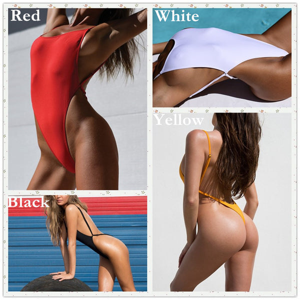 fc69a4b37d9 ... Thong One Piece Swimwear Swimsuit 2017 Sexy Thong Bodysuit Leotard One-Piece  Swimsuits Women High ...