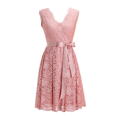 Women's Dress Sashes Dress Female New Arrival Free Delivery Cheaps Vintage Ladys Dresses Blush
