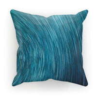 Abstract Blue Starry Sky Cushion Faux Suede / 12X12 Homeware