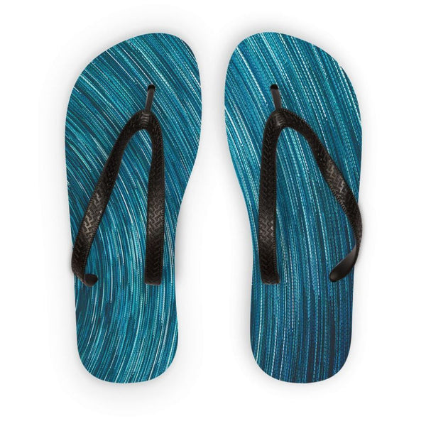 Abstract Blue Starry Sky Flip Flops S Accessories