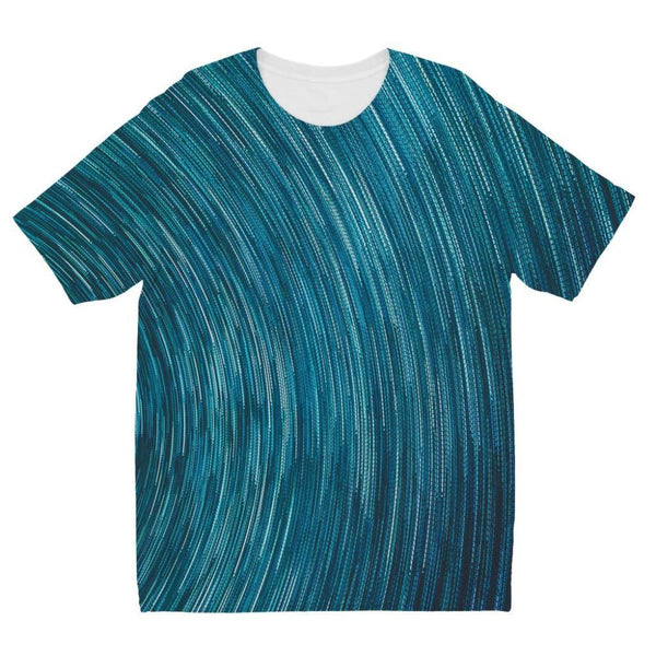 Abstract Blue Starry Sky Kids Sublimation T-Shirt 3-4 Years Apparel
