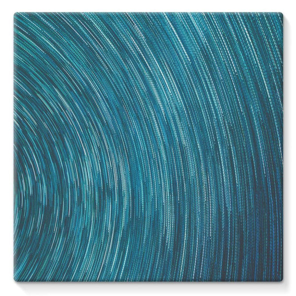 Abstract Blue Starry Sky Stretched Canvas 10X10 Wall Decor