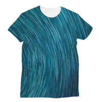 Abstract Blue Starry Sky Sublimation T-Shirt S Apparel