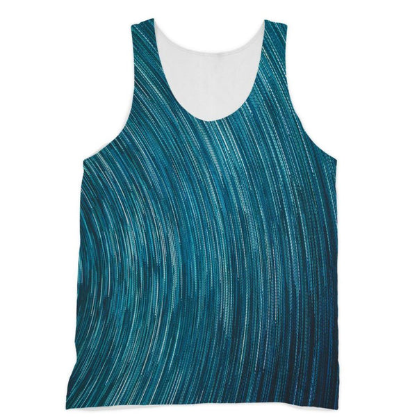 Abstract Blue Starry Sky Sublimation Vest Xs Apparel