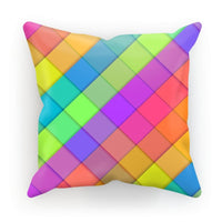 Abstract Colourful Desing Cushion Faux Suede / 18X18 Homeware