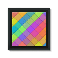 Abstract Colourful Desing Framed Eco-Canvas 10X10 Wall Decor