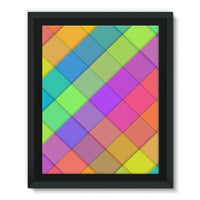 Abstract Colourful Desing Framed Eco-Canvas 11X14 Wall Decor