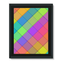 Abstract Colourful Desing Framed Eco-Canvas 18X24 Wall Decor