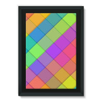 Abstract Colourful Desing Framed Eco-Canvas 20X30 Wall Decor
