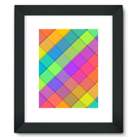 Abstract Colourful Desing Framed Fine Art Print 12X16 / Black Wall Decor