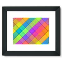 Abstract Colourful Desing Framed Fine Art Print 16X12 / Black Wall Decor