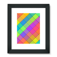 Abstract Colourful Desing Framed Fine Art Print 24X32 / Black Wall Decor