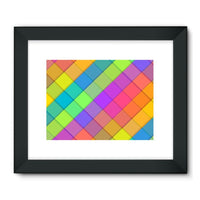 Abstract Colourful Desing Framed Fine Art Print 32X24 / Black Wall Decor