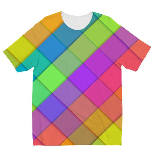 Abstract Colourful Desing Kids Sublimation T-Shirt 3-4 Years Apparel