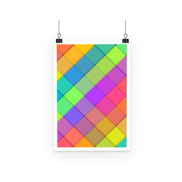 Abstract Colourful Desing Poster A3 Wall Decor