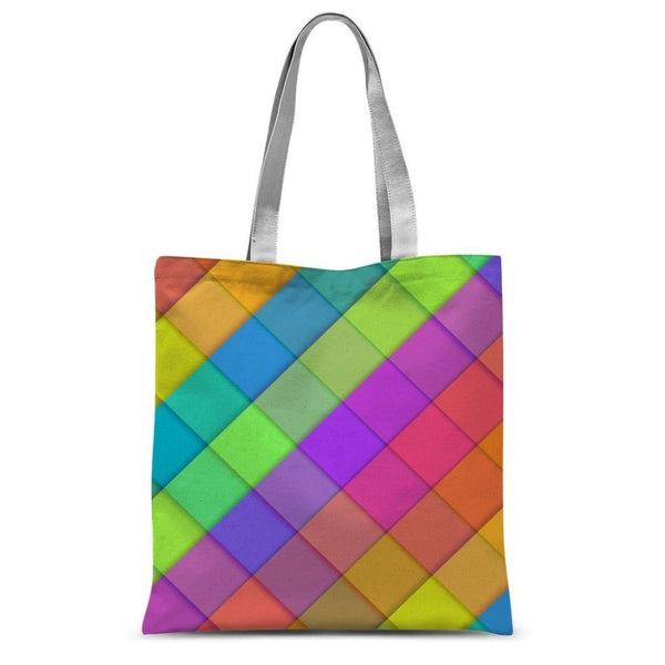 Abstract Colourful Desing Sublimation Tote Bag 15X16.5 Accessories