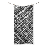 Abstract Gray Geometrical Beach Towel 19.7X39.4 Homeware