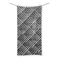 Abstract Gray Geometrical Beach Towel 27.5X55.0 Homeware