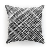 Abstract Gray Geometrical Cushion Faux Suede / 18X18 Homeware