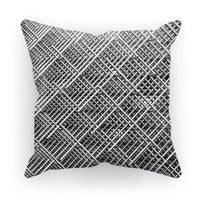 Abstract Gray Geometrical Cushion Linen / 18X18 Homeware