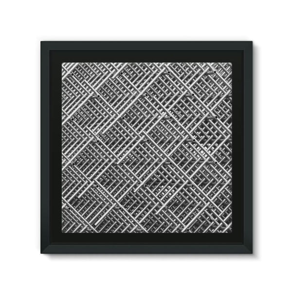 Abstract Gray Geometrical Framed Canvas 12X12 Wall Decor