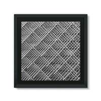 Abstract Gray Geometrical Framed Eco-Canvas 10X10 Wall Decor