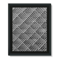 Abstract Gray Geometrical Framed Eco-Canvas 11X14 Wall Decor