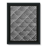 Abstract Gray Geometrical Framed Eco-Canvas 18X24 Wall Decor