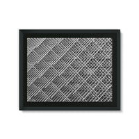 Abstract Gray Geometrical Framed Eco-Canvas 24X18 Wall Decor