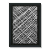 Abstract Gray Geometrical Framed Eco-Canvas 24X36 Wall Decor