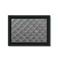 Abstract Gray Geometrical Framed Eco-Canvas 36X24 Wall Decor