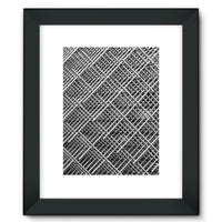Abstract Gray Geometrical Framed Fine Art Print 12X16 / Black Wall Decor