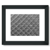 Abstract Gray Geometrical Framed Fine Art Print 16X12 / Black Wall Decor