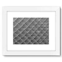 Abstract Gray Geometrical Framed Fine Art Print 16X12 / White Wall Decor