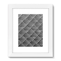 Abstract Gray Geometrical Framed Fine Art Print 18X24 / White Wall Decor