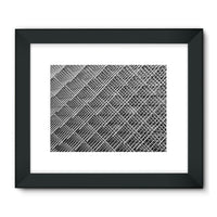 Abstract Gray Geometrical Framed Fine Art Print 24X18 / Black Wall Decor