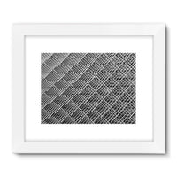 Abstract Gray Geometrical Framed Fine Art Print 24X18 / White Wall Decor