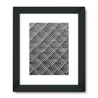 Abstract Gray Geometrical Framed Fine Art Print 24X32 / Black Wall Decor