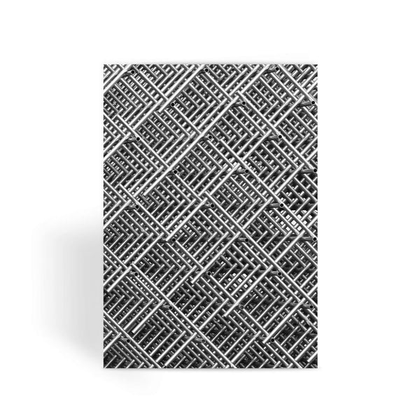 Abstract Gray Geometrical Greeting Card 1 Prints