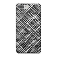Abstract Gray Geometrical Phone Case Iphone 8 Plus / Snap Gloss & Tablet Cases