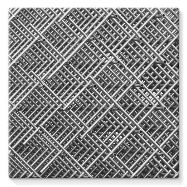 Abstract Gray Geometrical Stretched Eco-Canvas 10X10 Wall Decor