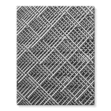Abstract Gray Geometrical Stretched Eco-Canvas 11X14 Wall Decor
