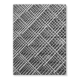 Abstract Gray Geometrical Stretched Eco-Canvas 18X24 Wall Decor