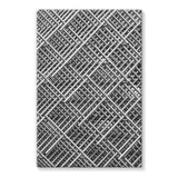 Abstract Gray Geometrical Stretched Eco-Canvas 20X30 Wall Decor