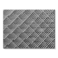 Abstract Gray Geometrical Stretched Eco-Canvas 24X18 Wall Decor
