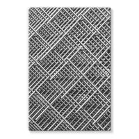 Abstract Gray Geometrical Stretched Eco-Canvas 24X36 Wall Decor